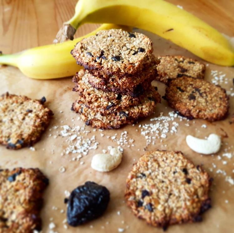Ciasteczka bananowo-owsiane